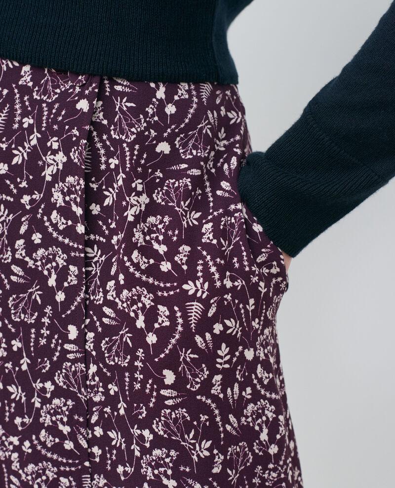Falda cruzada estampada Cyanotype purple Paline