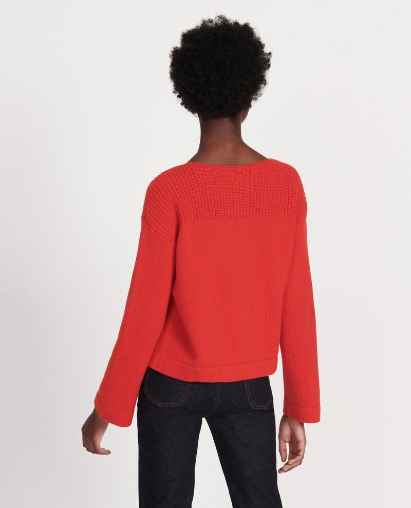 Jersey de lana y cachemir Fiery red Lalane
