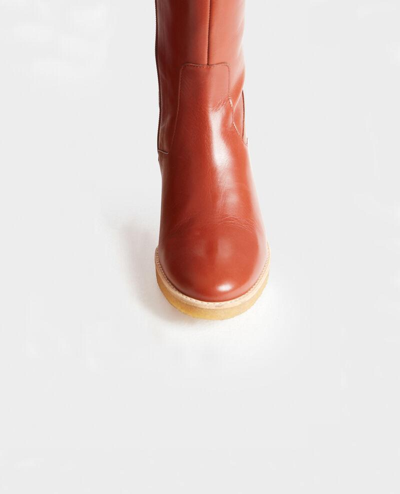 Botas de cuero con suela de crepé Brandy brown Mayenne