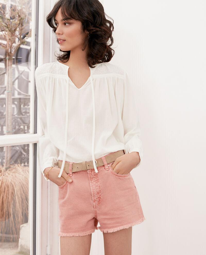Blusa con encaje  Blanc Fhistoire