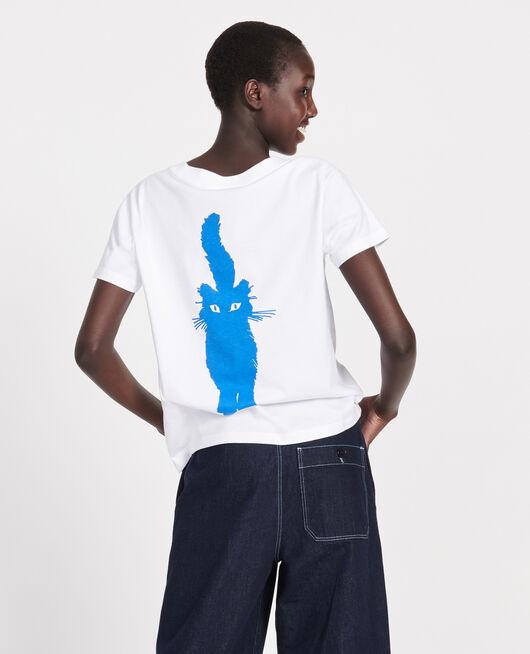 Camiseta de algodón PRINCESS BLUE