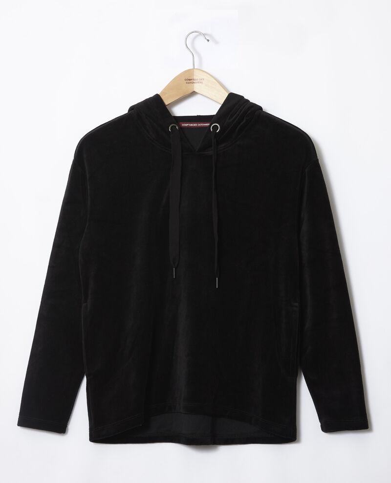 Sudadera con capucha Negro Ginou