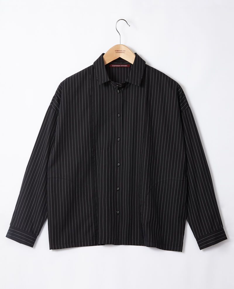 Camisa de corte recto Noir Goran