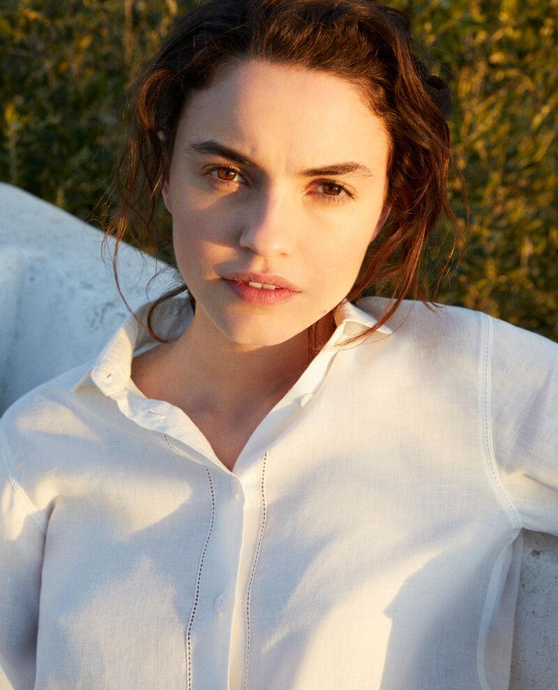 Camisa de lino Off white Igram