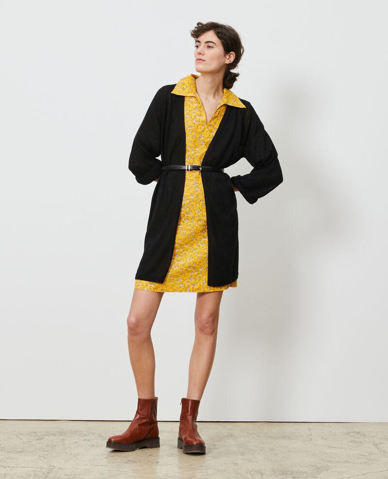 Vestido de lino estilo casaca marinera Indie-small-yellow Noaillesse