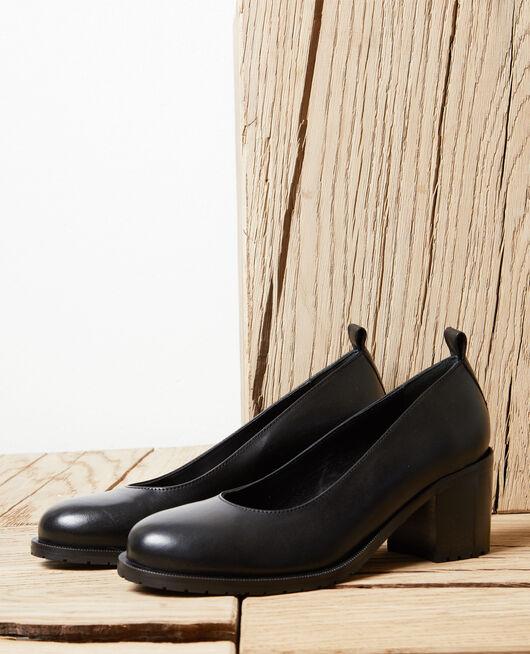 Zapatos salón de piel NOIR