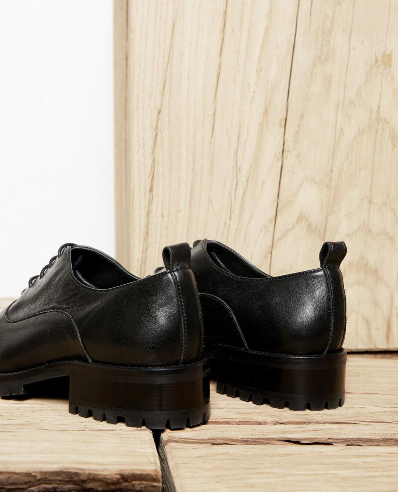 Zapatos  de cordones derbies de cuero Noir Jaya