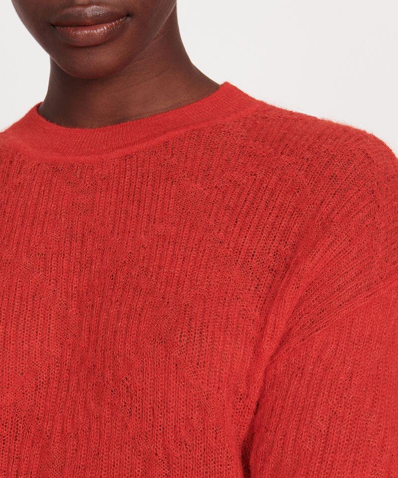Jersey de baby alpaca Fiery red Lilirose