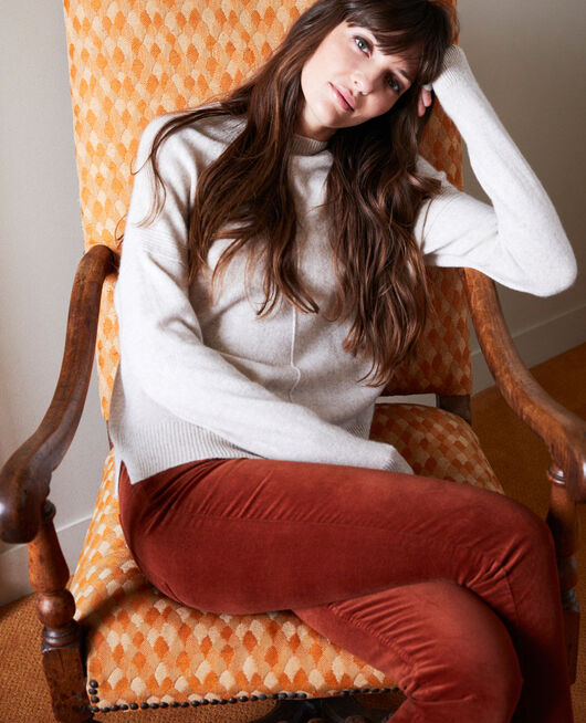 Pantalón de terciopelo liso BRANDY BROWN