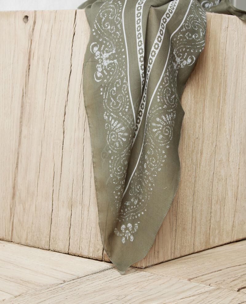 Foulard imprimé Cheng olive Idana