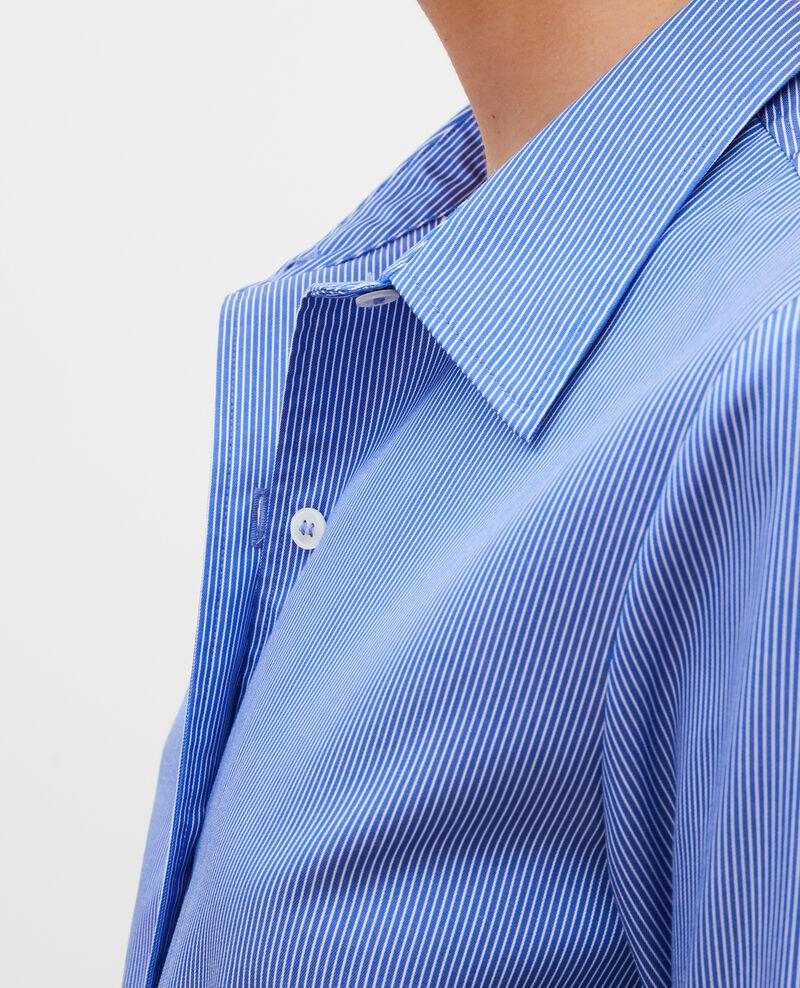 Vestido camisero de algodón con cinturón Blue as proto Mezeres