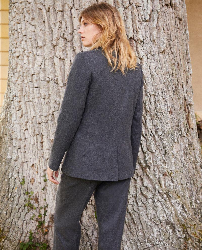 Chaqueta sastre con lana Heather grey Jermain