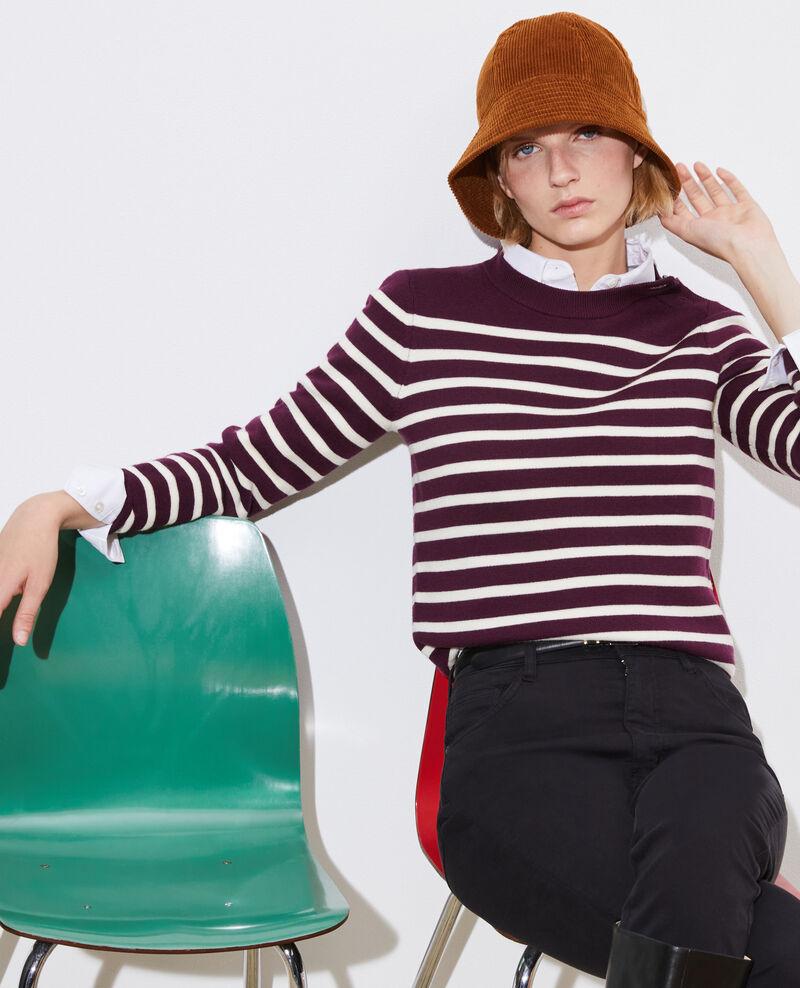 MADDY - Jersey marinero de lana merino Stp prpl jtst Liselle