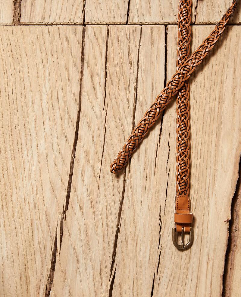 Cinturón trenzado de cuero Glazed ginger Glane