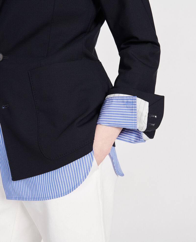 Blazer de lana Dark navy Luscadi