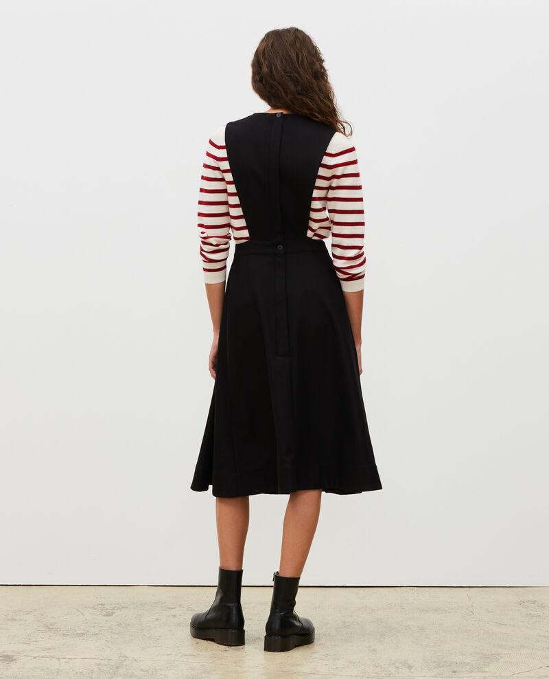 Vestido pichi de lana Black beauty Mantilly