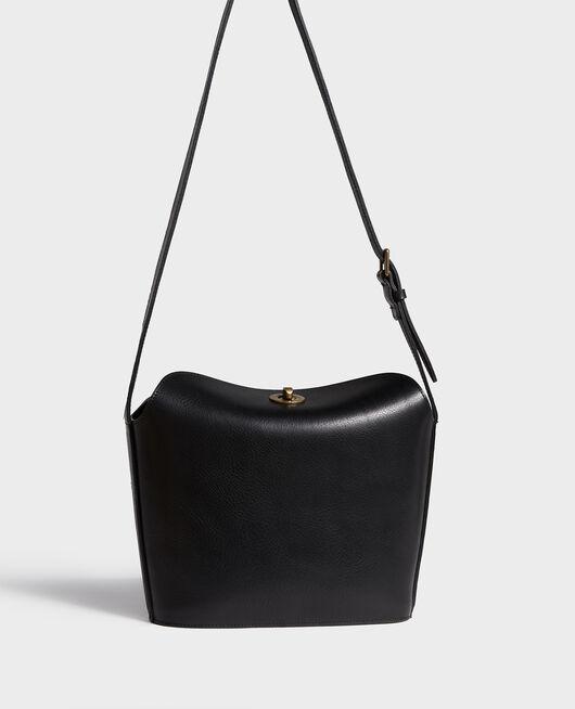 Bolso de cuero con bandolera corta BLACK BEAUTY
