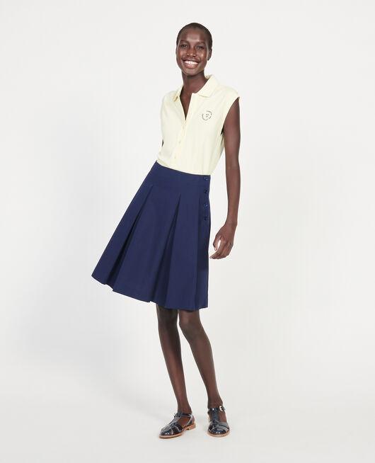 Falda de algodón MARITIME BLUE
