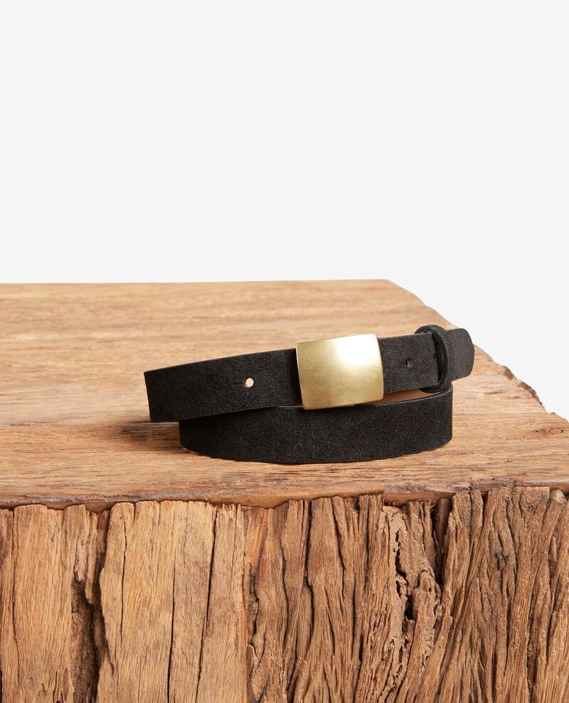 Cinturón de corteza de cuero Noir Faille
