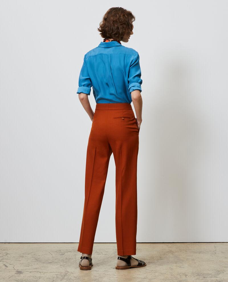 Pantalón MARCELLE masculino recto de lana Umber Nisabelle