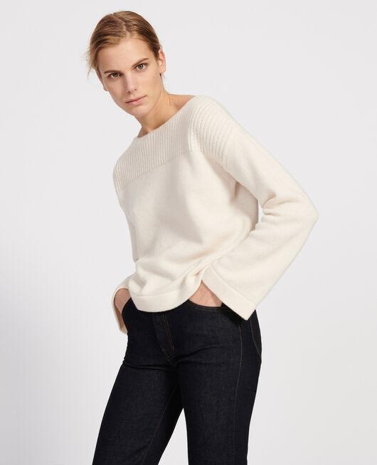 Pullover aus Wolle und Kaschmir BUTTERCREAM