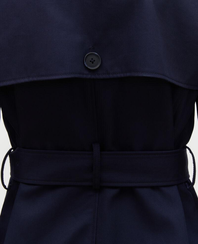 CATHERINE - Trench de algodón con cinturón longitud media Night sky Mambert