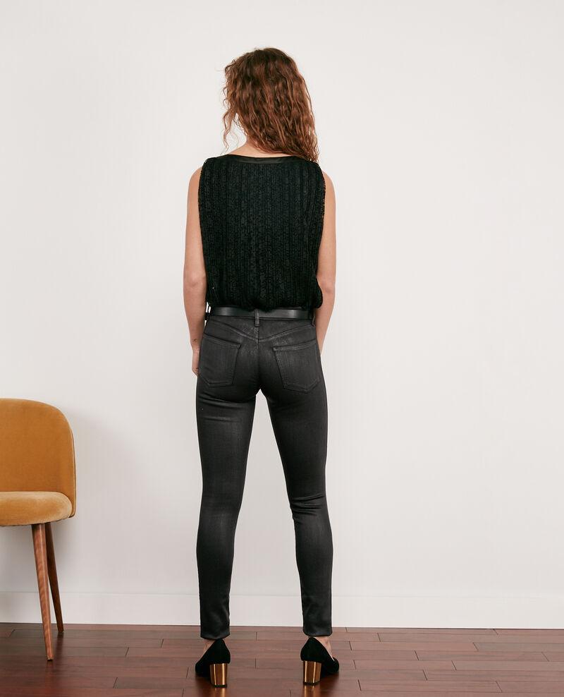 Jeans skinny con lentejuelas Noir Daix