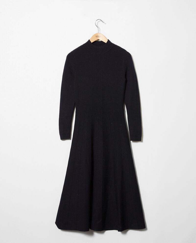 Vestido largo de punto Dark navy Jadame