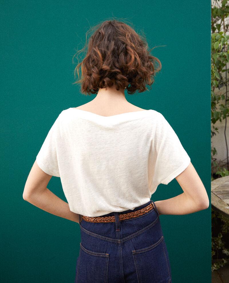 Camiseta con bolsillo Blanco Granolita