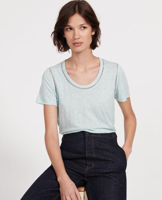 Camiseta de lino de jersey BLUE HAZE