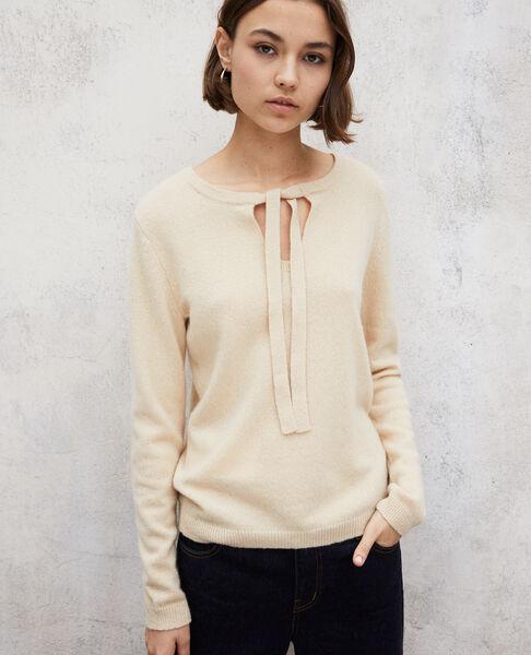 Comptoir des Cotonniers - Jersey cuello redondo de cachemir Light beige - 4