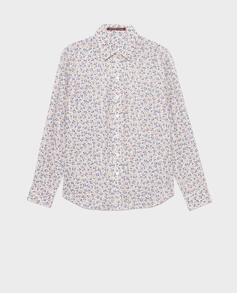 Camisa de seda con estampado Clochette spicy Nabilo