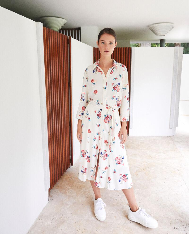 Vestido midi Blanco Fidji