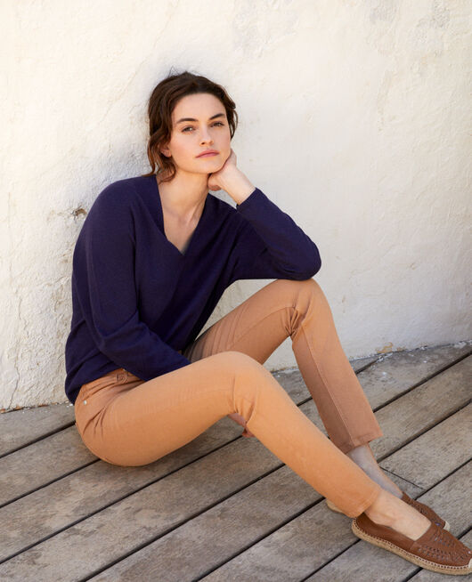 Jeans corte slim CARAMEL BEIGE