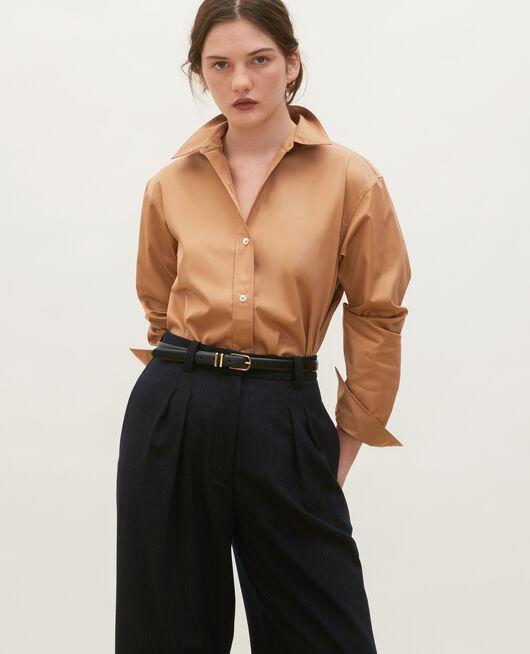 Camisa de hombre de algodón Supima LATTE