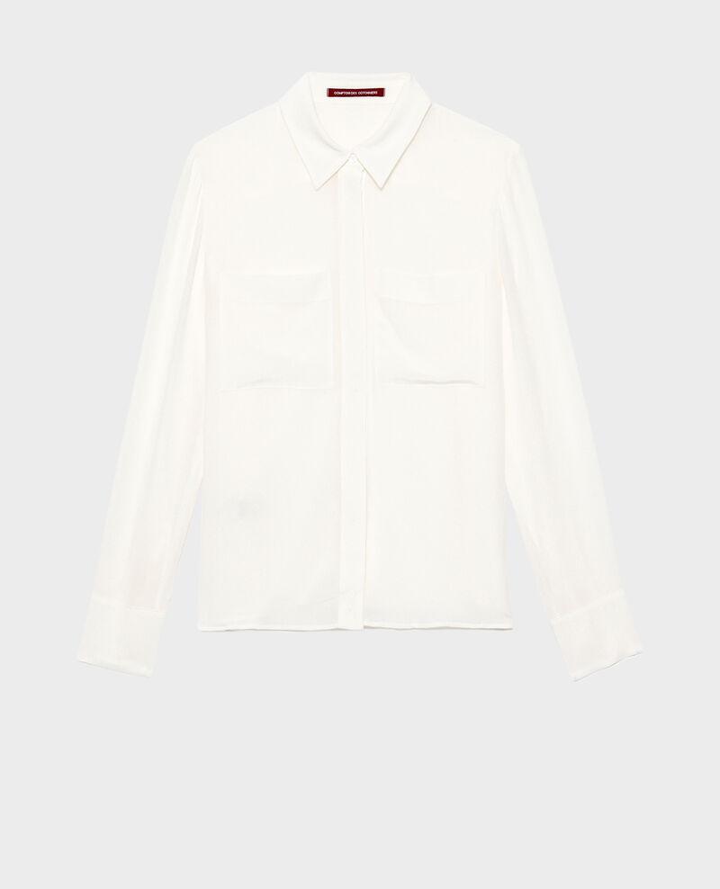 Camisa fluida de seda con manga larga Jet stream Misabetha