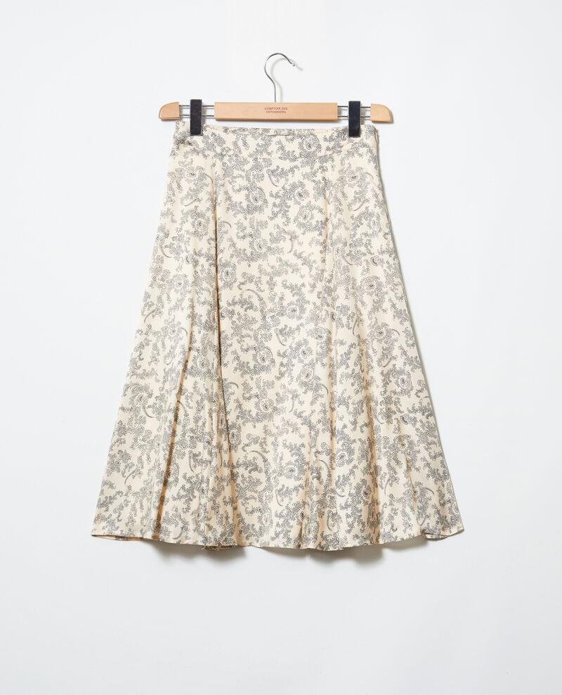 Falda estampada Bandana light beige Itinera