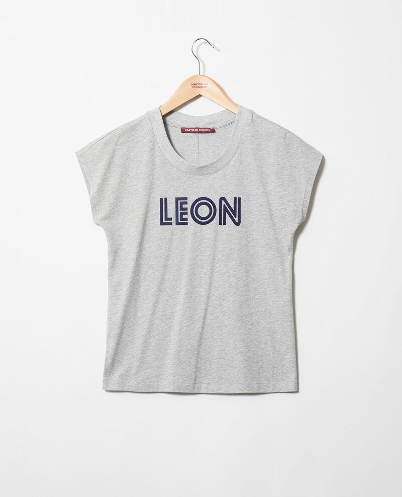"""Camiseta """"Léon"""" Heather gr/navy Ithera"""