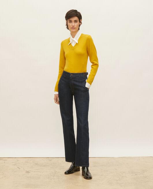 Jeans anchos en denim bruto DENIM RINSE