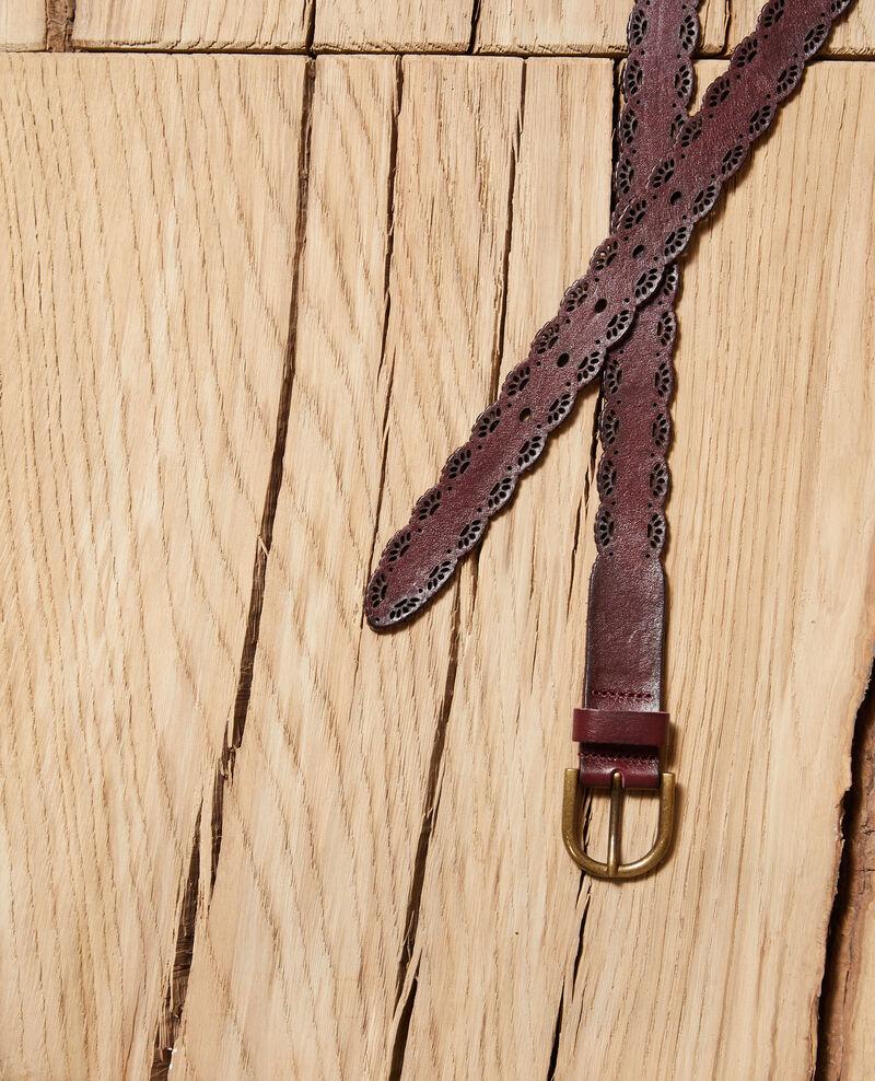 Cinturón de cuero trabajado Marrón Godon
