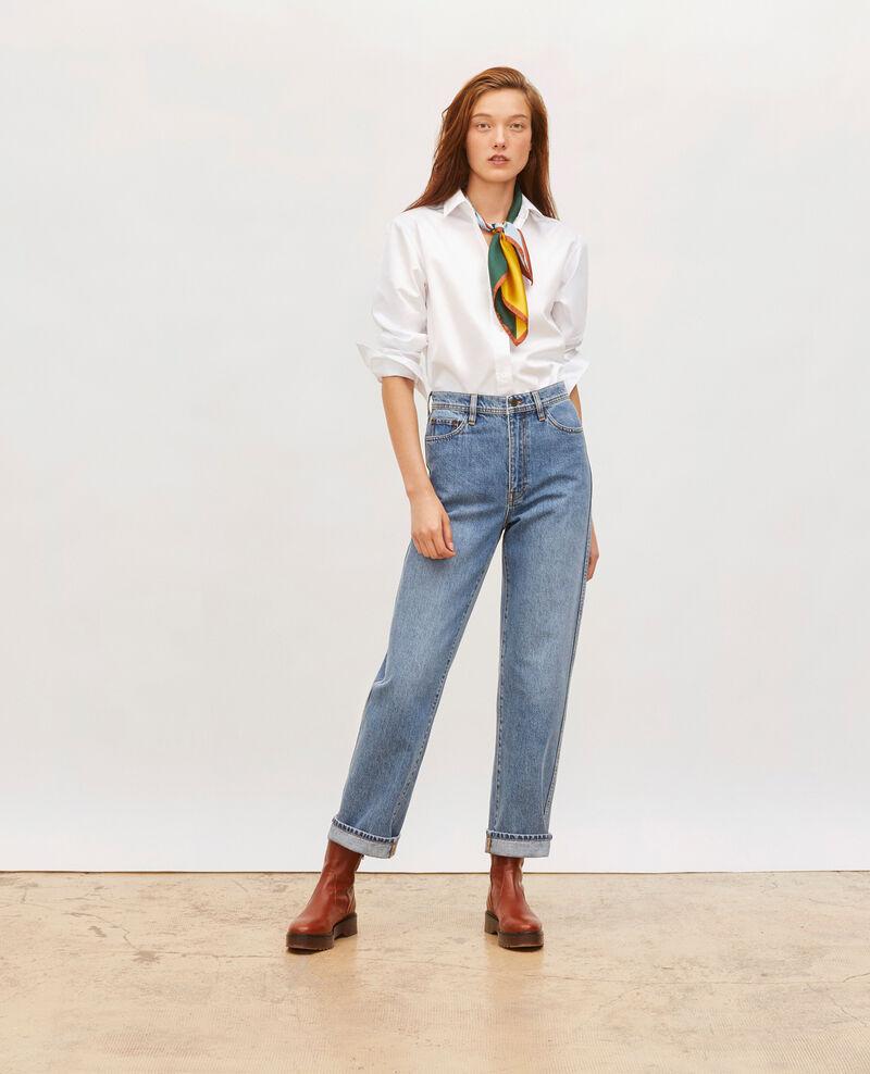 REAL STRAIGHT - Jeans desteñidos talle alto y 5 bolsillos  Light denim Merleac