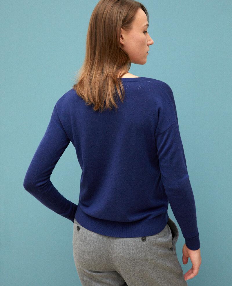 Jersey de lana merino Medieval blue Garago