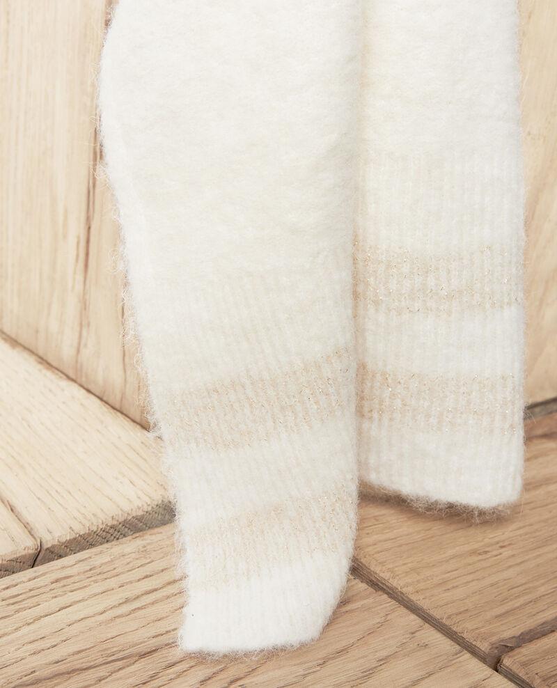 Bufanda con detalle de lúrex  Off white Jifroid