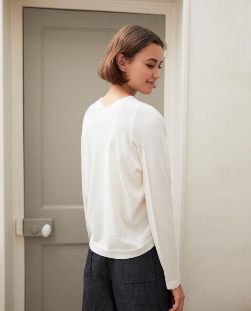 Cárdigan corto de algodón 3D Off white Ijape