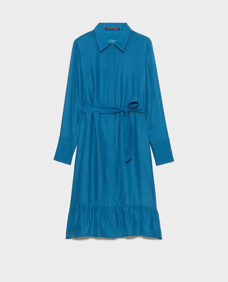 Vestido camisero de seda Faience Nishiga