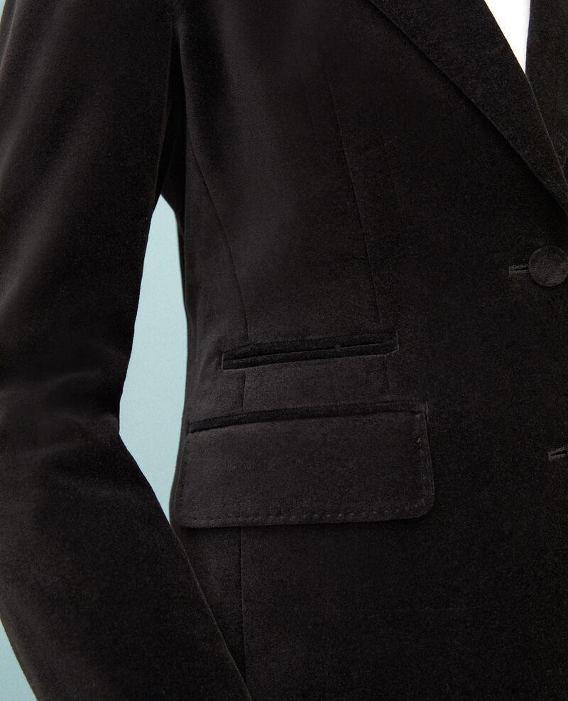 Chaqueta sastre de terciopelo  Negro Gabrielo