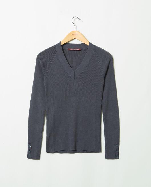 Jersey con cuello de pico ODYSSEY GRAY