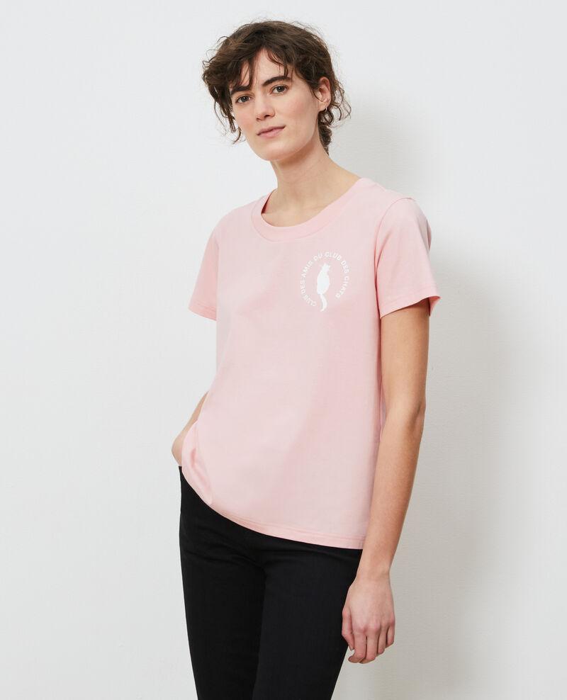 Camiseta de algodón Powder pink Nyonsa