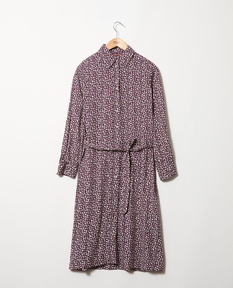 Vestido estampado Leopard potent purple Joleil