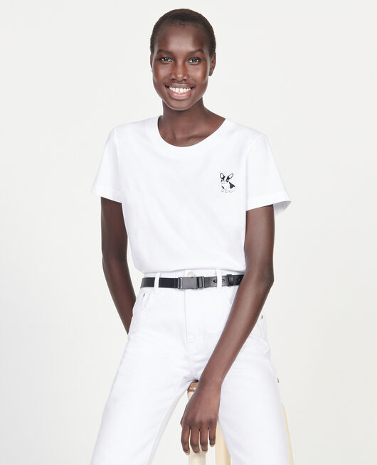 Camiseta de algodón Léon OPTICAL WHITE
